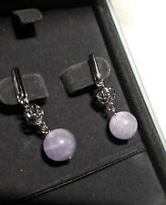 *** NEW - GORGEOUS Lanfeny Sterling And Amethyst Celtic Knot Earrings ***