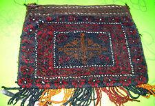 Afghan Tasche alt Iran handgekn. mit Zertifikat russ. Nomadenarbeit Pflanzenfarb
