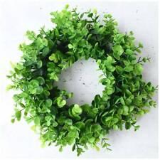 Door Hanging Wall Window Flower Green Leaf Wreath Home Party Plsei AaGVx