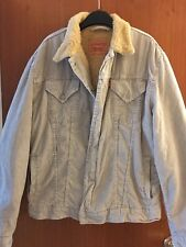 Vintage Levis Corduroy Sherpa Trucker Jacket 74550 Beige XL AMAZING VINTAGE