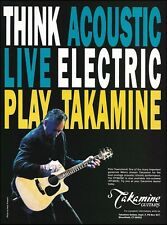 The Who Pete Townshend 1993 Takamine FP360SC Guitar ad 8 x 11 advertisement