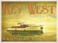 BOAT ART PRINT Nautical Escapes 4 Carlos Casamayor Key West Florida Poster 11x14