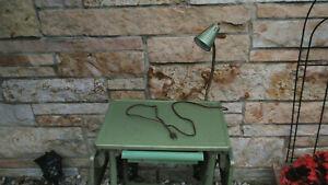 Vintage Toledo Guild Rolling Metal Typewriter Table Stand w/LIGHT STEAMPUNK