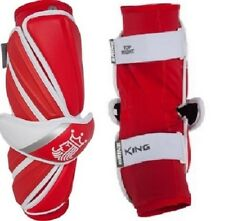 New Brine King V Lacrosse Arm Guards Large Red White Protective Gear R5Ag15-Rdl