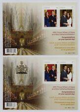 Canada 2011 Royal Wedding(1st issue) set x 2 min. sheets fine fresh MNH