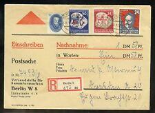 DDR Nr.270 u.a. R-BRIEF POSTSACGE BERLIN 28.1.1952 nach DRESDEN ! (953091)