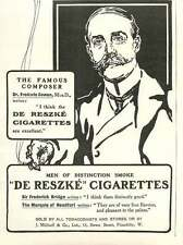 1909 Famous Composer Dr Frederick Cowen Endorses Their Excellence Ad