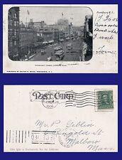US RHODE ISLAND WEYBOSSET STREET LOOKING EAST PROVIDENCE 1906 TO MALBORO MASS