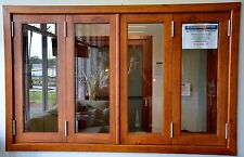 BIFOLD WINDOWS, SOLID CEDAR , 1770W X 1000H,WITH PLEATED FLY SCREEN PRE ORDER