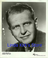 "Ralph Bellamy Promo Photograph Head Shot ""Follow That Man"" MCA-TV B&W 8 x 10"