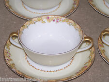Empress China Japan 6 Cream Soup Cup & Saucer Sets