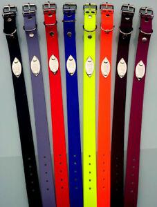 elropet® Biothane® Hundehalsband mit Gravurschild u. Gravur 5 Größen 25mm breit