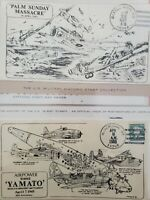WW2 Themed Cachet Postal Cover Album - 12 Patriotic Planes & Ships WWII