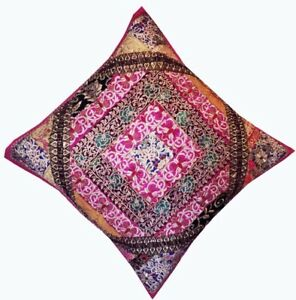 """30"""" PINK LARGE BOHO SARI ACCENT HANDCRAFTED THROW BED CUSHION PILLOW COVER"""