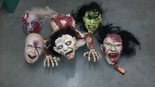 ZOMBIE TORSO and 4 HEADS LOT. ZOMBIES/MONSTERS. Halloween props.  Used.