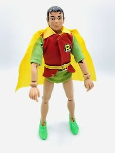 """Vintage 1972 Mego 8"""" WGSH Removable Mask Robin Type 1 RM HOLY SMOKES! Shoes,Belt"""