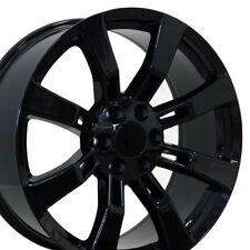 22x9 Rim Fits GM Trucks Cadillac Escalade Style Blk Wheel 5409 B1W