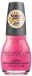 SINFUL COLORS PROFESSIONAL NAIL POLISH MADE IN THE USA 0.5 Fl. Oz.PINK VELVET