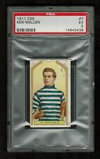 PSA 5 KEN MALLEN  C55 Imperial Tobacco Hockey Card #7