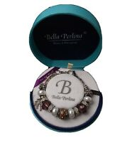 Bella Perlina Charm Bracelet Purple Amethyst Color 125.00