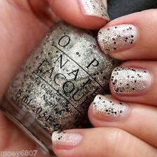 OPI Mariah ~WONDEROUS STAR~ Gold Glitter w/ Black Fleck Nail Polish Lacquer .5oz