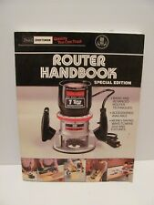 Sears-Craftsman Router Handbook No. 925184