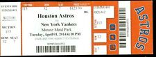 2014 Astros vs Yankees Ticket: Opening Day Derek Jeter final season