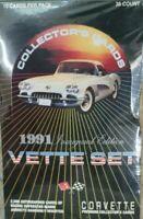 Vintage 1991 Vette Set Box Inaugural Edition Corvette Sealed Andretti Autograph