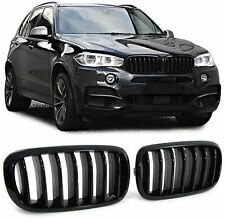 BMW X5 X6 F15 F16 13-19 M Performace Black Front Grill Kidney Grilles vent noses