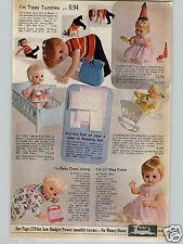 1968 PAPER AD Doll Li'l Miss Fussy Tippy Tumbles Remco Ideal Horsman Mattel