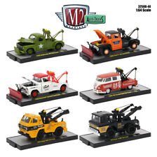 M2 Machines 1:64 Set 6 Auto TRUCKS 44 VW CHEVY DODGE FORD TOWING 32500-44 NEW