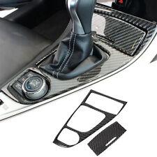 2Pcs For Infiniti Q50 Q60 2014-2019 Carbon Fiber Gear Shift Control Panel Cover