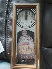 VINTAGE ORIGINAL COCA COLA WALL CLOCK by SELECTED . RUNNING