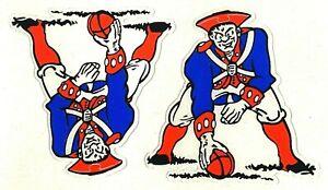 NEW ENGLAND PATRIOTS THROWBACK MINI SIDE HELMET DECAL SET 1961 - 1964