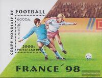 Laos Block163 (kompl.Ausg.) postfrisch 1997 Fußball-WM ´98, Frankreich