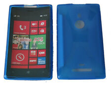 For Nokia Lumia 925 N925 Pattern Soft Gel Case Cover Protector Pouch Blue New UK