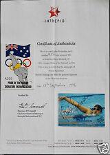 1996 OLYMPIC REDEEMED SIGNATURE CARD WITH COA - NICOLE STEVENSON - A266