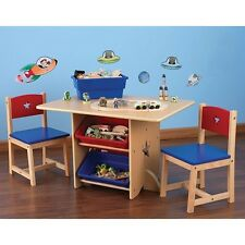 Kid Kraft Furniture Star Table Chair Childrens Play Area Table Chairs Storage