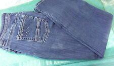 Lee Blue Jeans Size 16 Medium Embellished Slender Secret Womens
