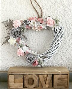 Beautiful Summer Heart Shaped Wreath With Stunning Artificial Flowers 🌸