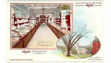 New Haven Conn CT -INTERIOR OF STUYLER'S CANDY STORE- Postcard Soda Fountain