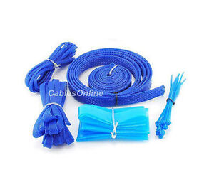 Mod Cable Sleeving Kit, PC Customize, Blue, CT-KT08B