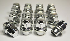 Set of 16 x M12 x 1.25, 21mm Hex Flat Seat Nissan Alloy Wheel Nuts (Silver)