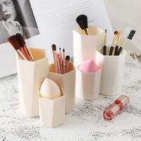 JF_ 3 Lattices Makeup Cosmetic Storage Box Case Holder Brush Pen Organizer Dis