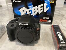 Canon EOS Rebel SL1 Digital SLR Camera 18.0 MP- Black. *Brand New Never Used*