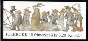 Norway Scott 1000a 1991 Christmas stamp booklet mint NH