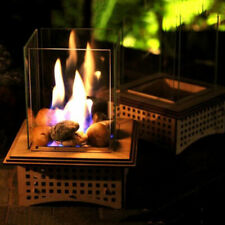 Diy Wooden Puzzle Tabletop Glass Fireplace Mutil Purpose Ornaments Home Decor