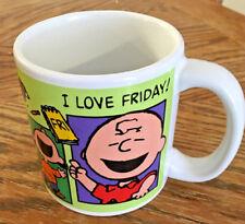 Peanuts Charlie Brown I Love Friday 12oz. Mug Everyone Loves Applause Cup j