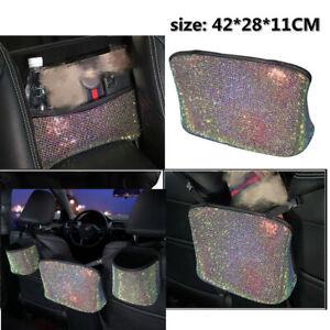 Car SUV Seat Storage Bag Organizer  Multi-Pocket PU Diamond