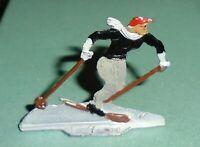 "Vintage Heinrichsen German Flat Lead ""Downhill Skier"" Near Mint F/S LOT B"